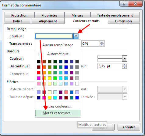 Insérer image commentaire Excel